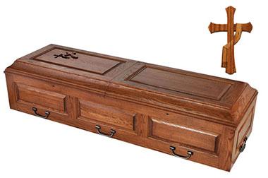 trappist caskets free cross
