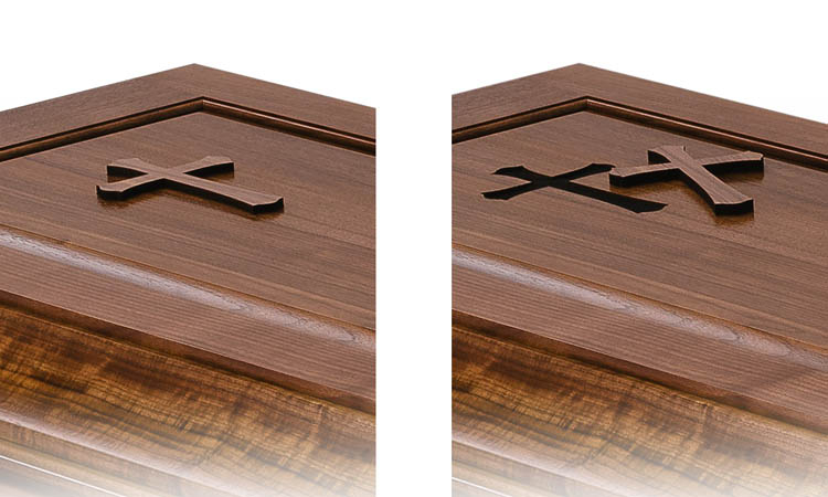 Simple Shaped Coffin-Trappist Caskets- New Mellerey Abbey